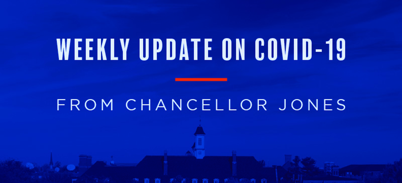 weekly update on covid-19 from chancellor jones