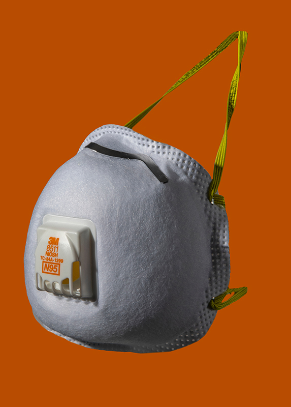 A N95 mask with a ventilator